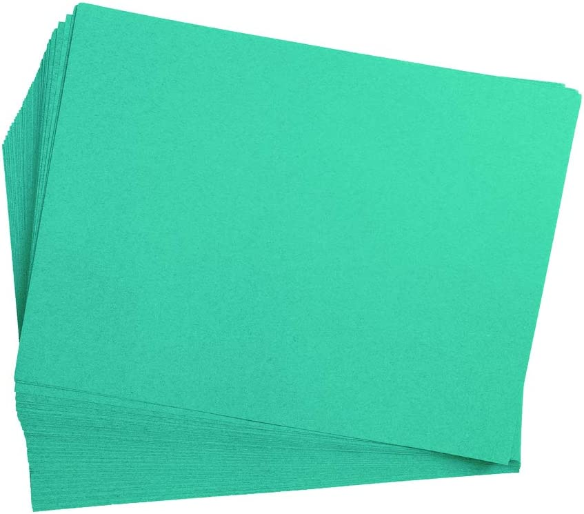 Art Project Painting Kids Art Heavyweight Construction Paper Crafts 50 Sheets Coloring All Purpose Construction Paper Art 9 inches x 12 inches Drawing Paper Turquoise Item # 9CPTU