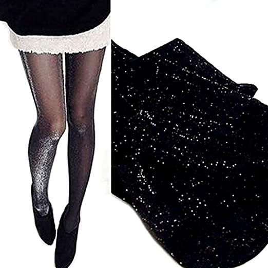 cd8233bf4b2 Image Unavailable. Image not available for. Color  Tinksky Shiny Pantyhose  Glitter Stockings ...