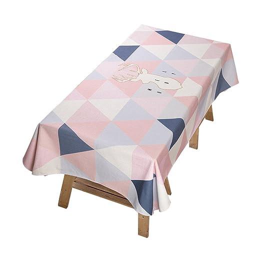 Tablecloth WERLM Mesa Minimalista Moderno Telas Tela algodón Dulce ...