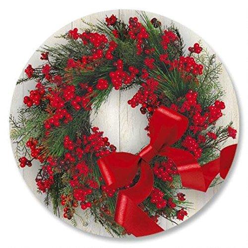 (Wreath & Ribbon Envelope Seals - Set of 72)