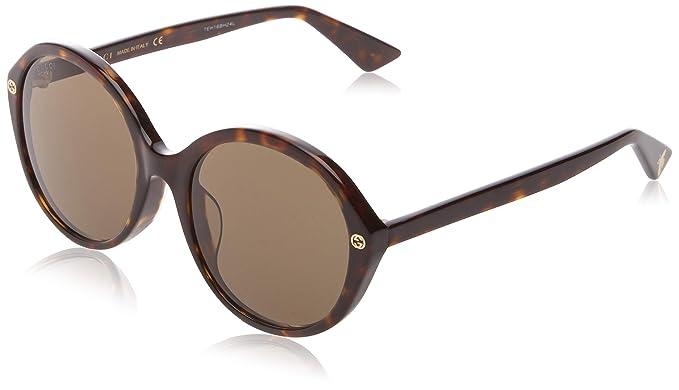 41ead8c112 Amazon.com  Sunglasses Gucci GG 0119 S- 003 003 AVANA   GREEN ...