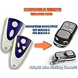 NOVOFERM NOVOTRON 502 MAX43-2, 504 MAX43-4 compatible mando a destancia 433,92Mhz rolling code, 4-canales reemplazo transmisor Al mejor precio!!!