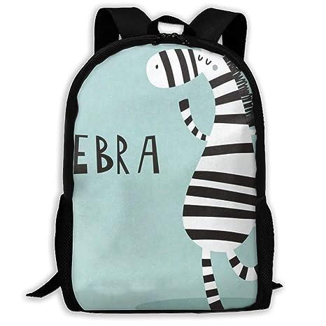 Cool-custom Backpack Girls Boys Dancing Zebra Zipper School Bookbag Daypack  Travel Rucksack Gym Bag 936602e54f