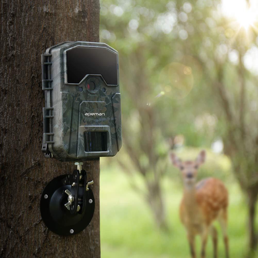 APEMAN C/ámara de Caza 16MP 1080P C/ámara de vigil/ància de la Vida Silvestre,C/ámara de Juego de detecci/ón Nocturna sin LED de Brillo de 850nm IR,Lapso de Tiempo,Temporizador,Dise/ño Impermeable IP66