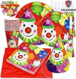 Galashield Birthday Party Plates Supplies Set for 10 includes Disposable Cups Napkins Birthday Hats Horns Tablecloth and Banner