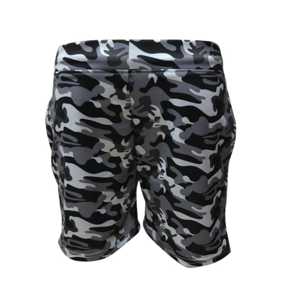 e31bb30804da42 MOIKA Herren Boardshorts Männer Casual Elastische Tarnung Sport Hosen  Strand Shorts Sweatshorts Badeshorts Casual Strandhosen Bademode