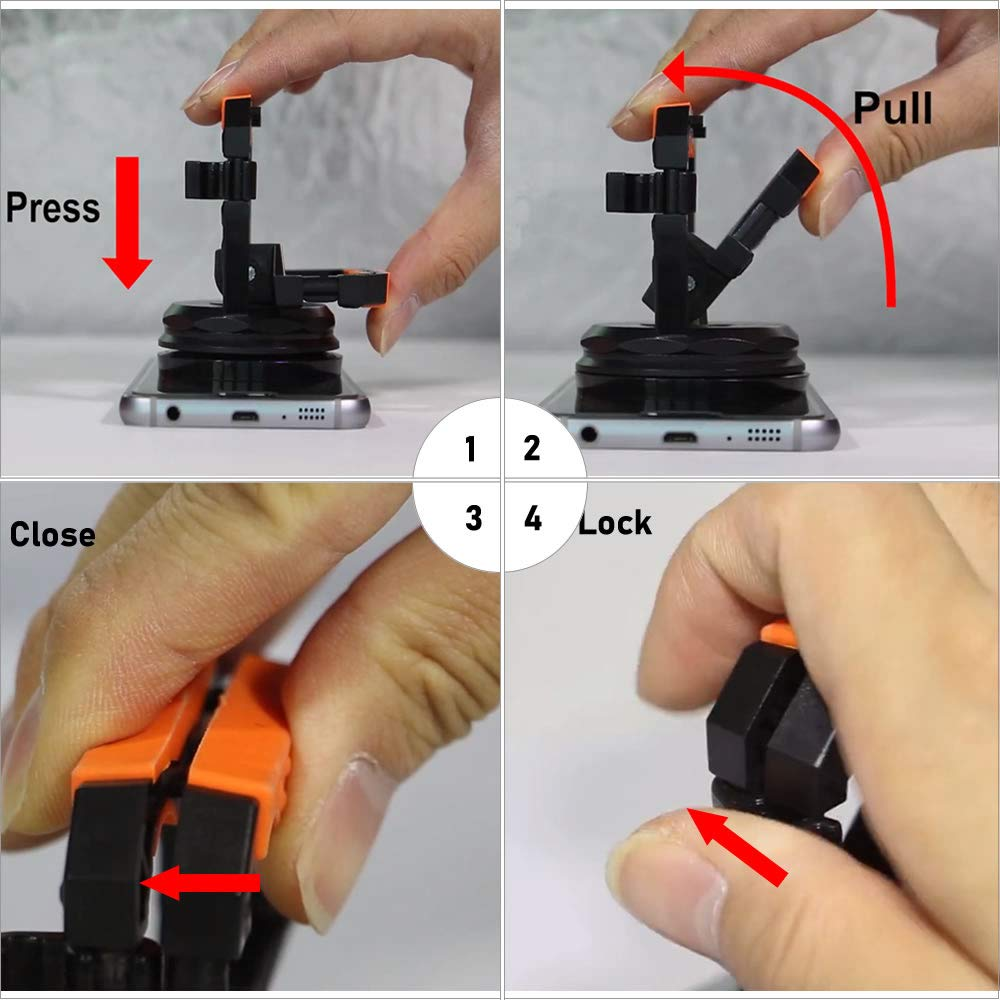 Heavy Duty Suction Cup, TEKPREM 2 Pack Suction Cups Removal Repair Tool Kit for iMac,Laptop,Computer,iPhone, Camera and Other LCD Screens or Glass Replacement
