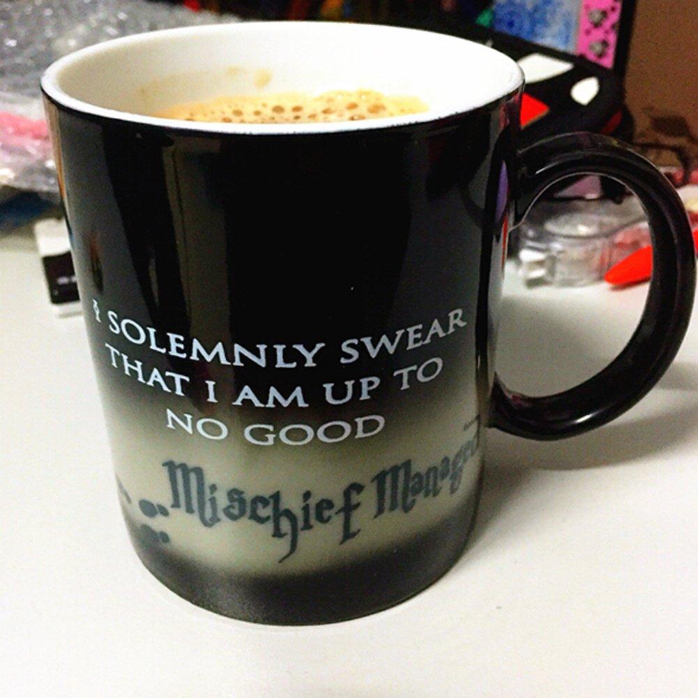YoungChoice Harry Potter Marauder's Map Morphing Mug Color Changing Ceramic Mug (Footprints)