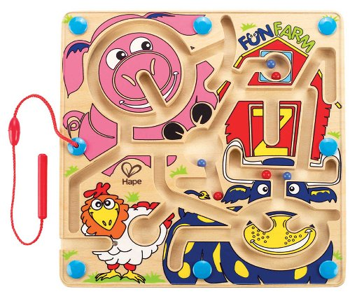 Marble Farm - Hape Fun Farm Magnetic Wooden Toddler Maze Puzzle