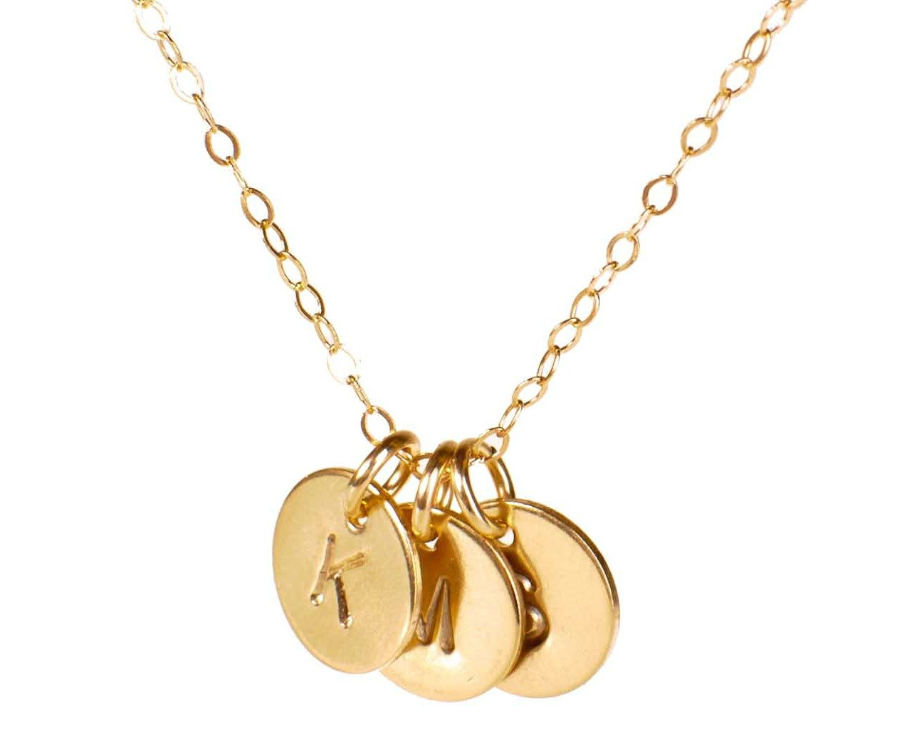 Efy Tal Jewelry Three Initial Necklace, 3 Dainty Gold Filled Personalized Initials of Your Choice