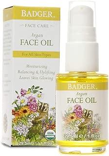 product image for Badger - Face Oil, Argan, Certified Organic, Argan Oil, Organic Face Oil, Moisturizing Facial Oil, Natural Face Oil, 1 oz Glass Bottle