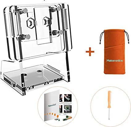 Makeronics Acrylic Holder Case for Raspberry Pi 5MP 1080P Camera Module Transparent