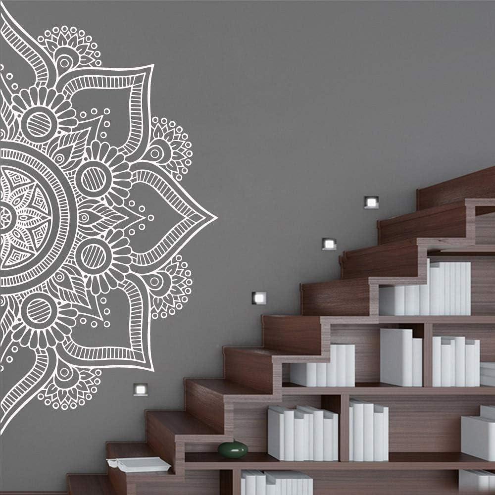 BJWQTY Envío de la Gota de la meditación Yoga Pegatina de Mandala Mural de Vinilo Cartel removible para la habitación de los niños Sala de Casa decoración de Vinilo Mural Etiqueta