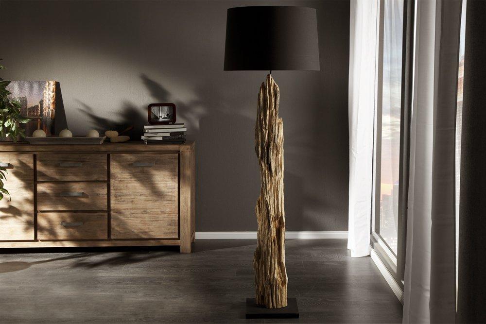 Riesige Design Stehlampe ROUSILIQUE Treibholz Lampe Schwarz Handarbeit Amazonde Beleuchtung