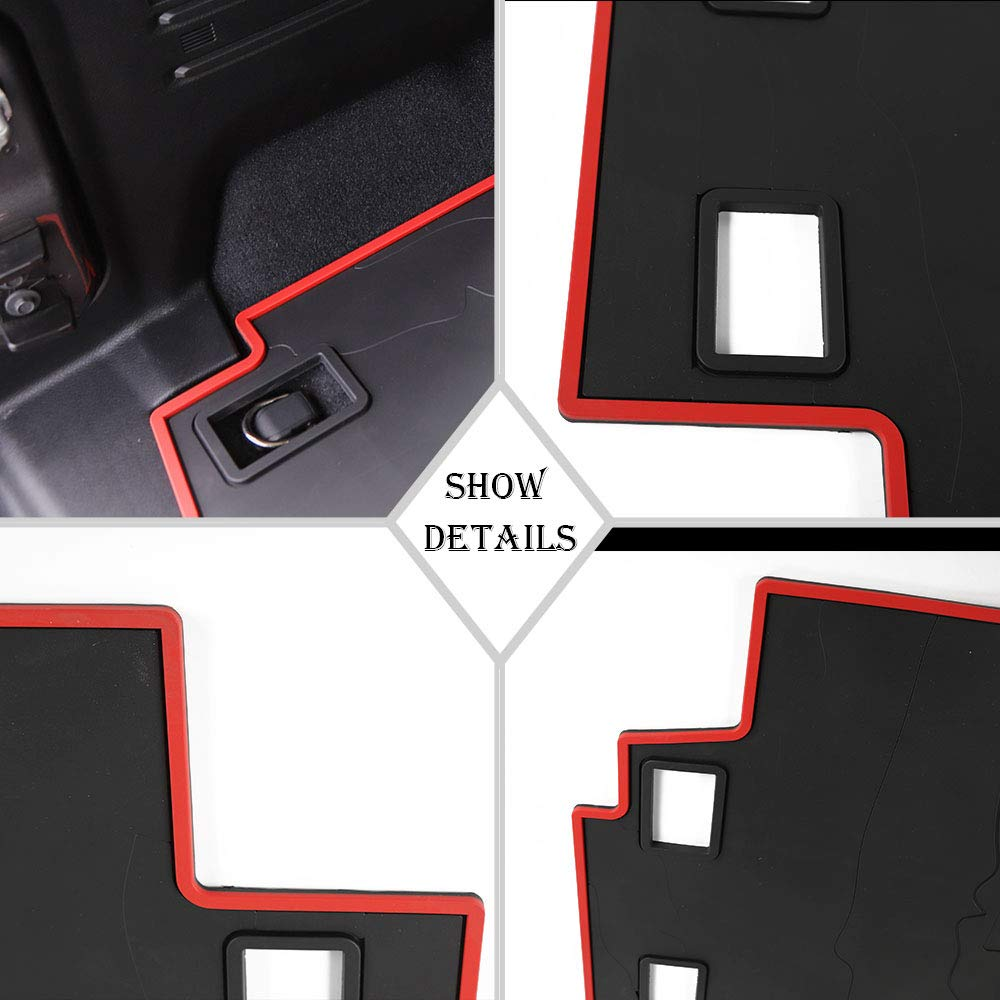 JL/Cargo/Liner Trunk/Mats Heavy Duty Rubber All Weather Waterproof Pet Trunk Mats Car Boot Pad Carpet Car Trunk Cargo Liner Floor Mat Fit for Jeep Wrangler JL 2018 2019 4 Doors