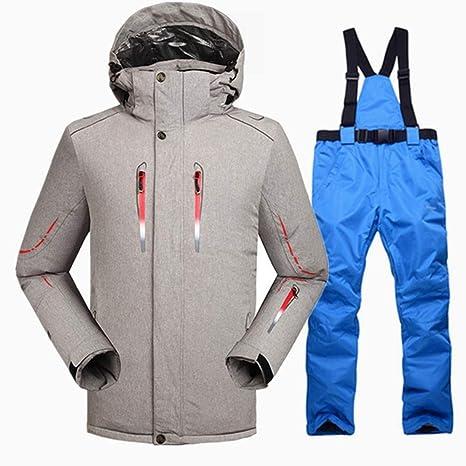 QZHE Traje de esqui Cálido Traje De Esquí De Invierno para Hombre ...