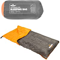 Milestone Camping Men's 26700 Envelope Sleeping Bag Single 3 Season Double Insulation Grey & Orange