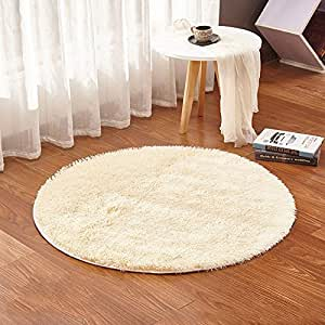 lulalula - Alfombra circular para sala de estar o dormitorio (100 cm de diámetro)