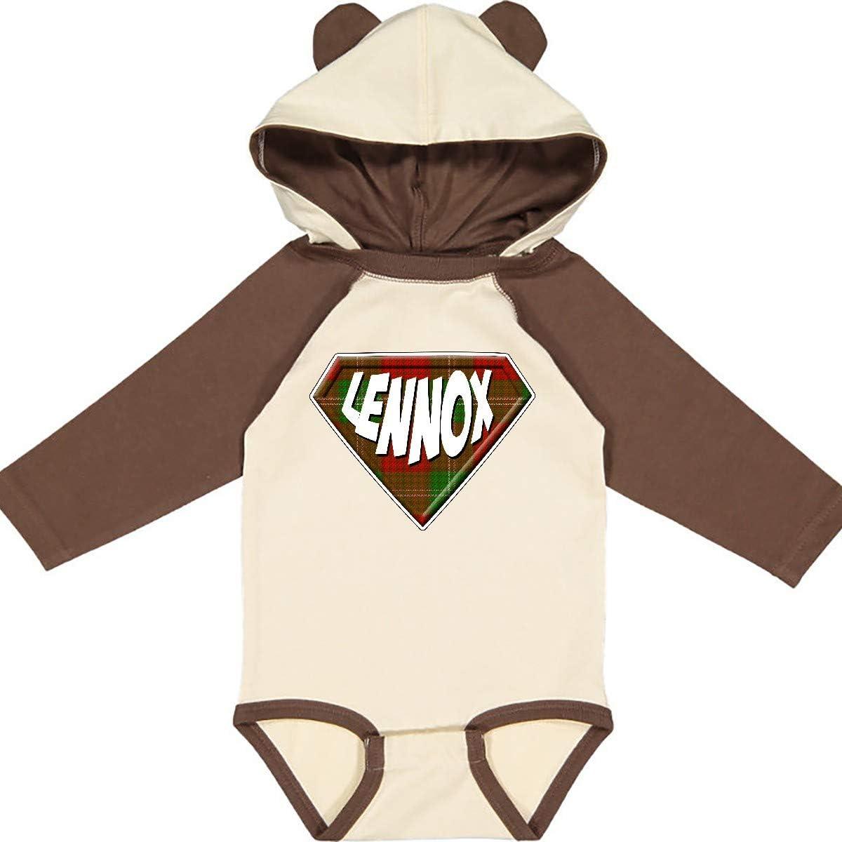 inktastic Lennox Tartan Superhero Long Sleeve Creeper