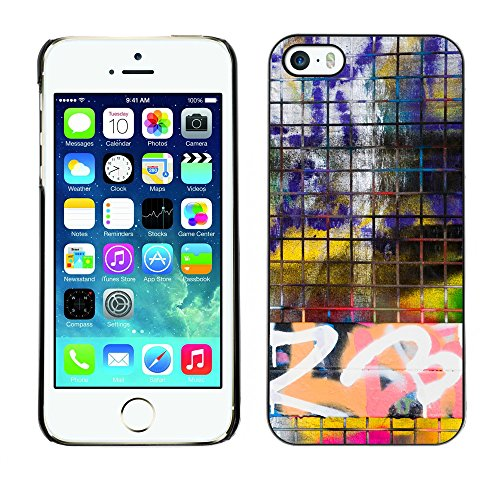 Premio Sottile Slim Cassa Custodia Case Cover Shell // V00002361 frontière Graffiti // Apple iPhone 5 5S 5G