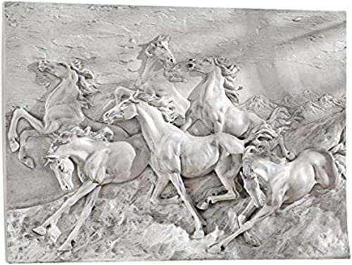 Design Toscano Wild Horse Stampede Wall Frieze