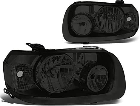 For 05-07 Ford Focus Replacement Black Housing Headlights Clear Reflector Lamps