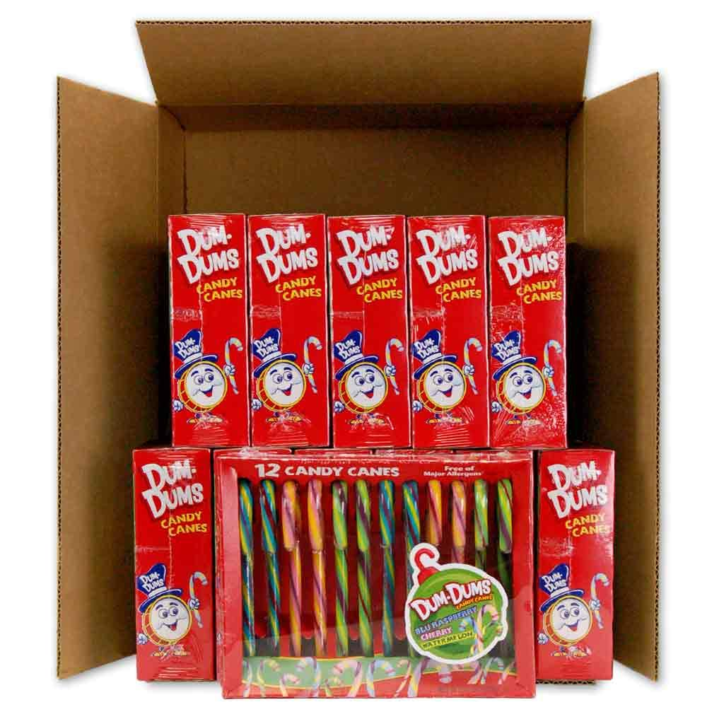 Dum Dums Candy Canes 12-12 count boxes by Dum Dums