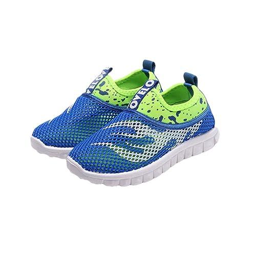 Calzado Unisex Niños Color Sólido Zapatos Planos Niñas Ocio Calzado para Niños Moda Imprimir Mocasines Hueco Zapatos Planos Antideslizante Playa Exterior ...