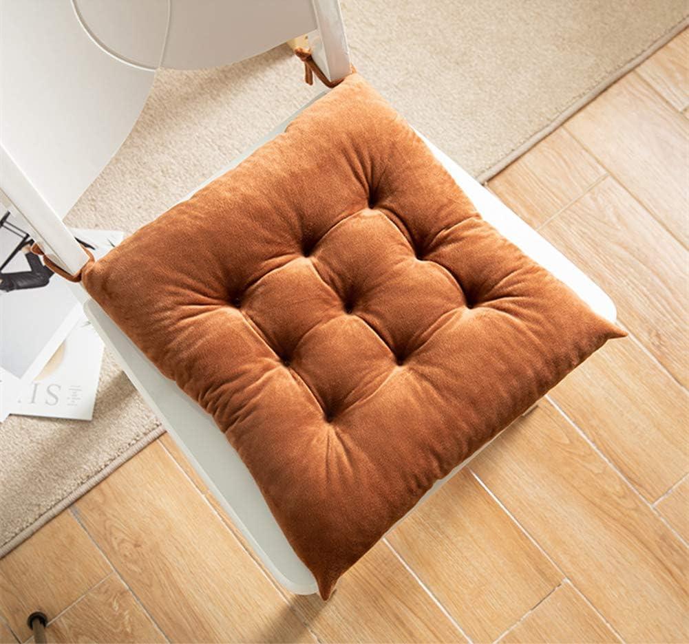 Sitzauflage Gartenstuhlkissen Balkon Terrasse 2er-Set Samt Stuhlkissen Sitzkissen f/ür Garten Martin Kench Sitzkissen Beige,35 x 35 cm