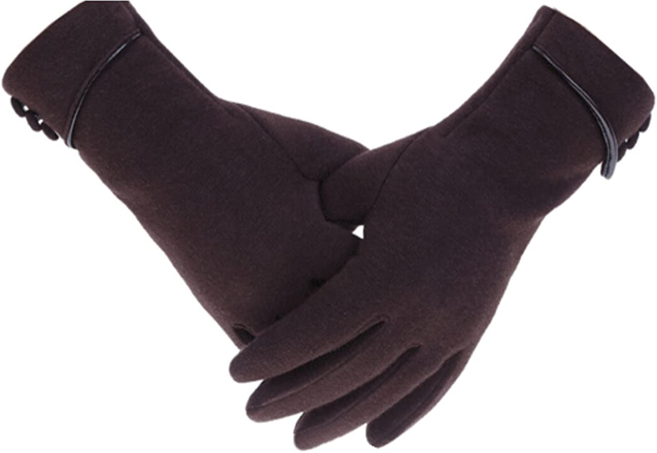Tomily Womens Touch Screen Phone Fleece Windproof Gloves Winter Warm Wear (Black) at  Women's Clothing store