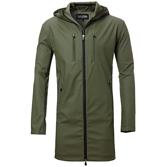 Men's Fashion Lightweight Rain Jacket Soft Shell Waterproof ...