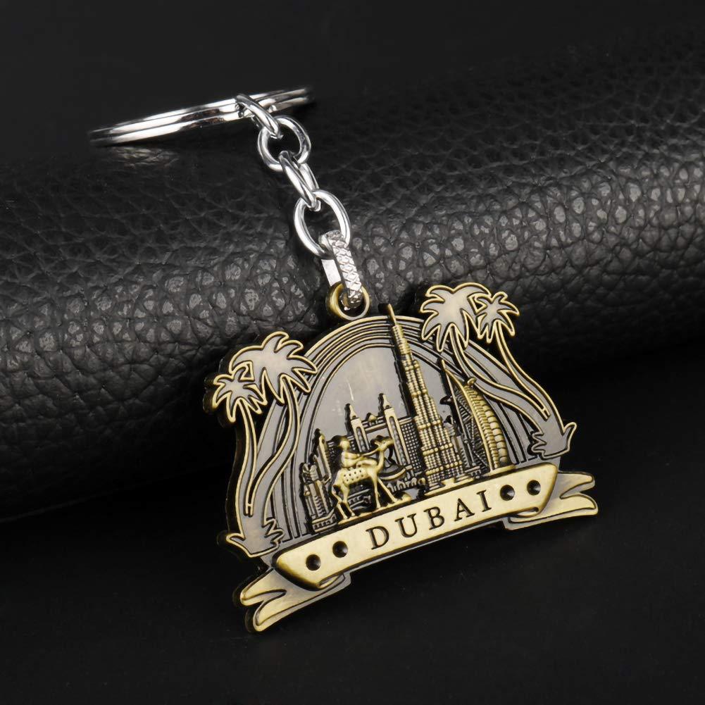 LadyGG Portachiavi Dubai Portachiavi Charm Lega Metallo Cammello Pendente a Vela Hotel Portachiavi Borsa a Mano con Fibbia Decorazione Auto Ornamento Appeso C