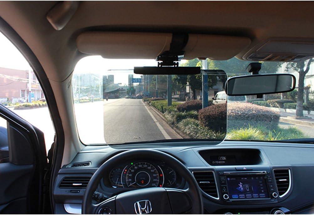 schwarz Visier Auto WINOMO Sonnenblende Spiegel der Visier f/ür Tag und Nacht
