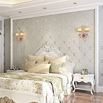Peachy Xiajingjing 3D Continental Diamond Soft Non Woven Wallpaper Beutiful Home Inspiration Xortanetmahrainfo