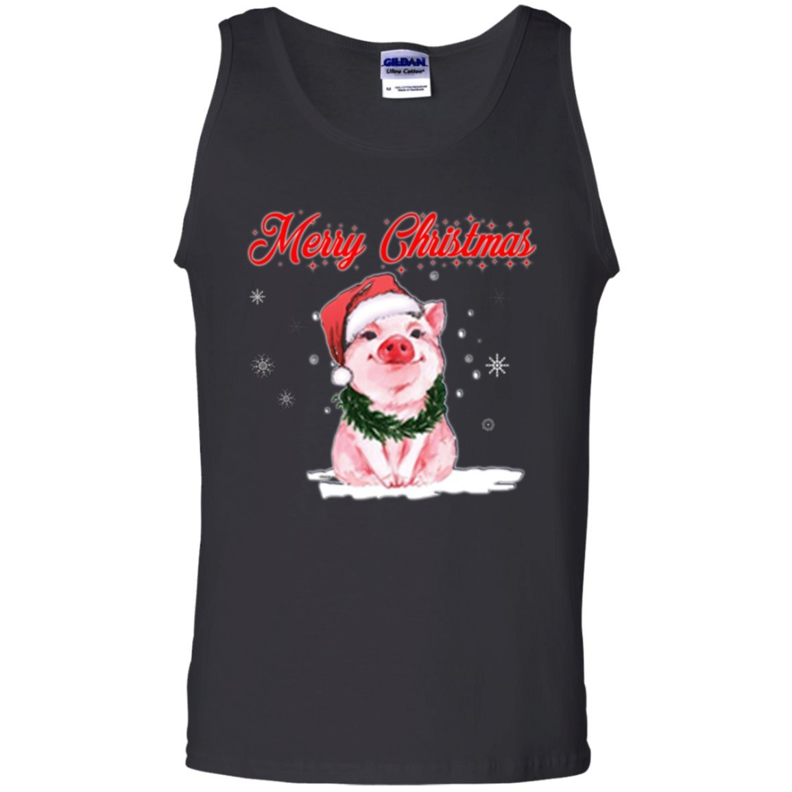 Vinteena Merry Christmas Love Pigs Unisex Tanktop Tshirt