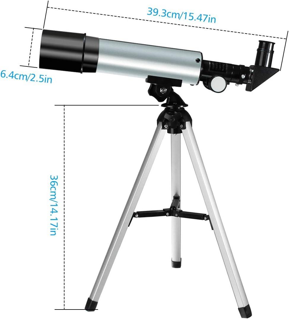 Outerdo Astronomisches Teleskop Zoom Hd Monokulares Astronomisches Lichtteleskop Tragbarer Refraktor Mit Stativ Für Kinder Anfänger Sieh Den Mond Und Die Sterne Als Geschenk Sport Freizeit