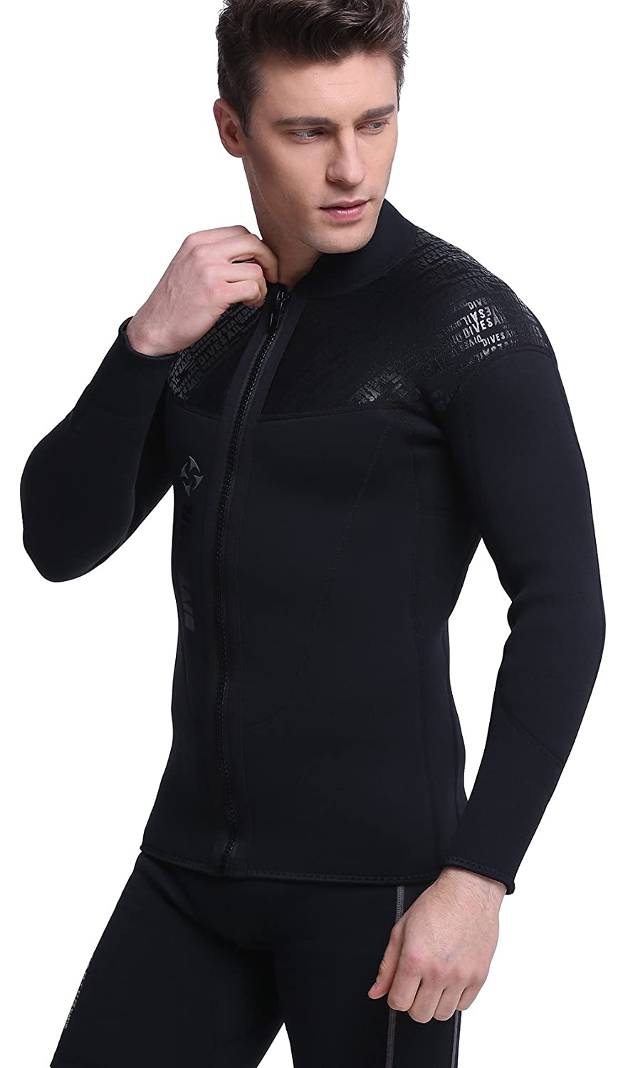 755533873b1f5 Dive & Sail Wetsuit Top 3mm Neoprene Wetsuit Men Long Sleeve Wetsuit for Surf  Swimming Water Sports: Amazon.ca: Sports & Outdoors