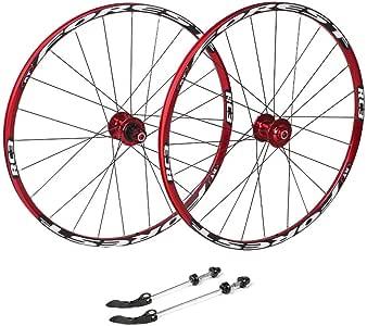 ZNND Ciclismo Ruedas 26, híbrido de Bicicletas MTB de Doble Pared del Borde de liberación rápida V-Brake/Orificio del Disco 7 8 9 10 135 mm Velocidad: Amazon.es: Deportes y aire libre