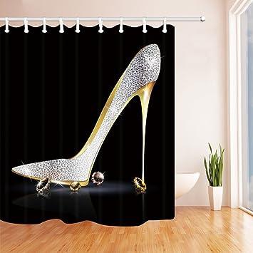 Amazon.com: Girly Decor Shower Curtain by KOTOM, Fashion Lady High ...