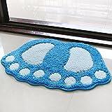 Water bath mat household mats toilet door mat -4060cm Blue