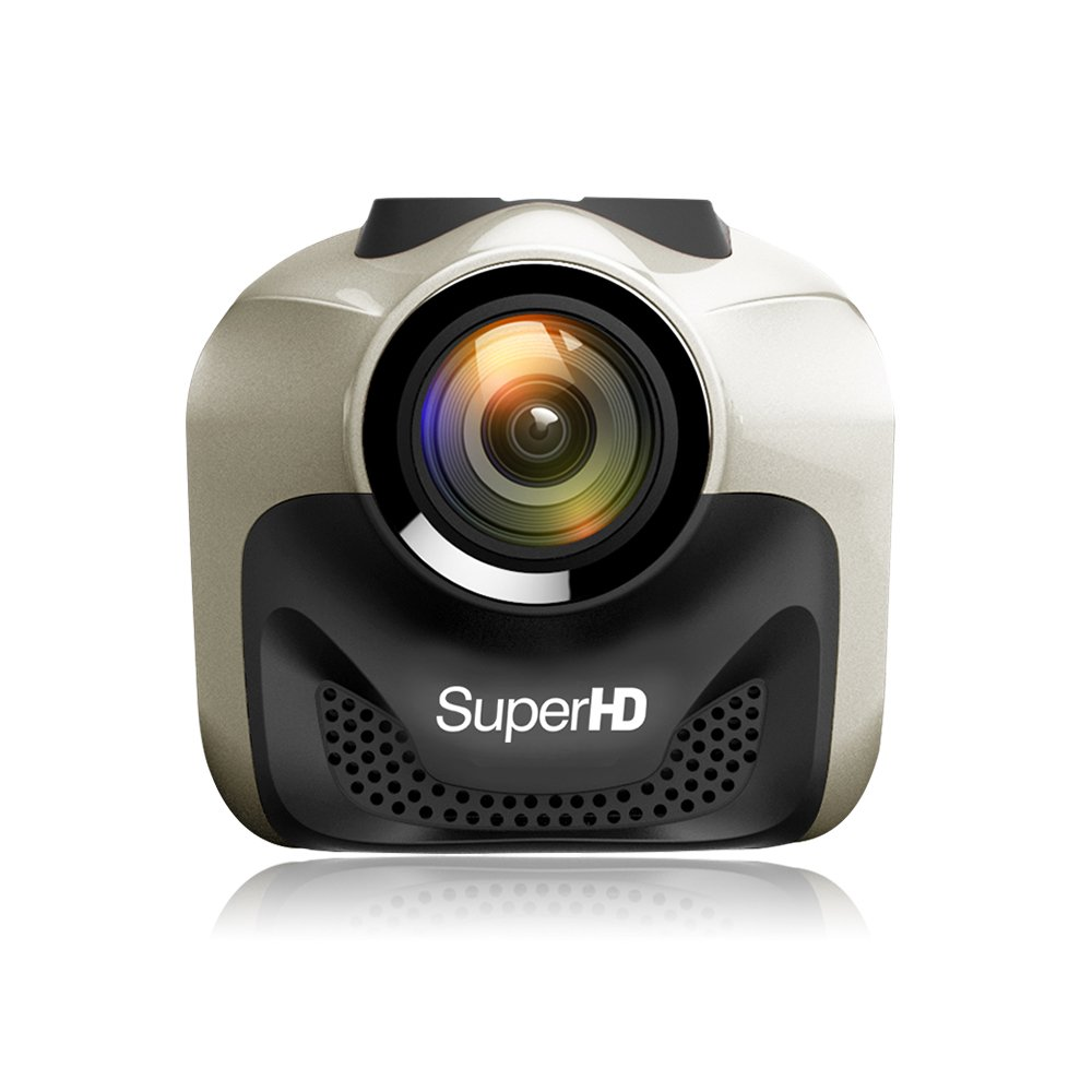 MERRILL Dash Cam WIFI Mini Dash Camera 1080p 15 Megapixel with Parking monitor Night Vision G-sensor Remote Control 16G SD Card CR5000N