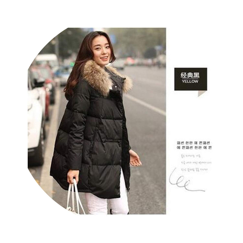 Black Winter Jacket Coat Warm Down Jacket Hooded Long Women's Parkas Down Coats A298