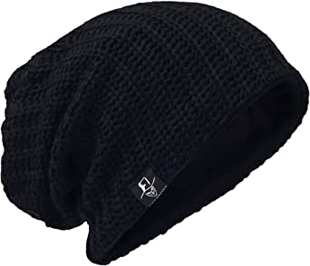 VECRY Mens Slouchy Beanie Knit Skull Cap Lined Baggy Winter Summer Hat