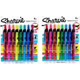 Sharpie Accent Retractable DHwSl Highlighters, Chisel Tip, Assorted Colors, 8 Count (2 Pack)