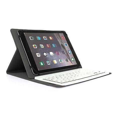Wasan Funda de Teclado Bluetooth Compatible con iPad iOS Tabletas Android Windows