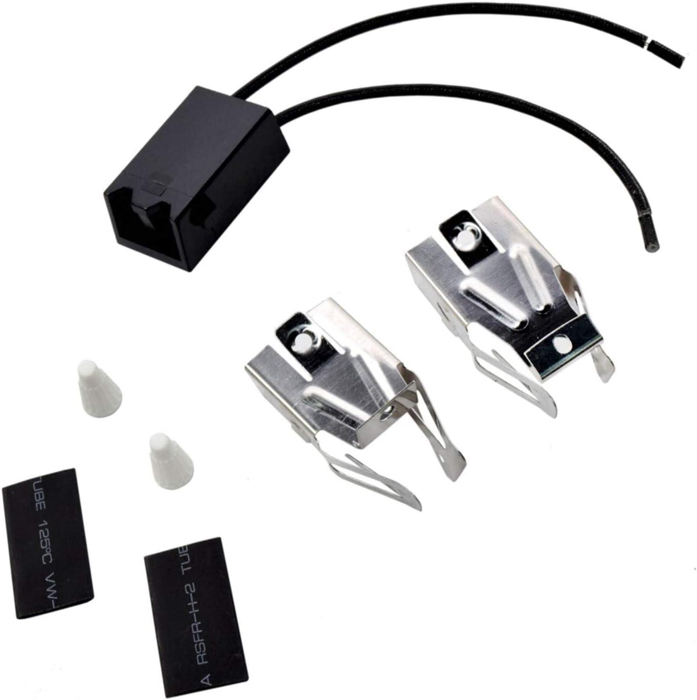 HQRP Range Top Burner Receptacle Kit Replacement for Whirlpool 13460A 1346W0A 13470A 13551A 13552A 13553A 1355W1A 1355W3A 13950A 13952A 1395W0A 1395W2A Oven Stove plus HQRP Coaster