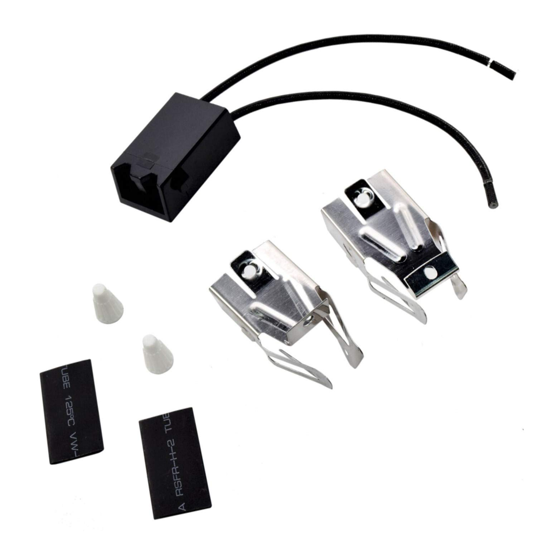 HQRP Range Top Burner Receptacle Kit Replacement for Roper C3357^0 D5257X0 D57570 F5907W0 F5908W0 F71071 F7108W0 F7907W0 F7908W0 FEP320BL0 FES370VW0 S5007W0 Oven Stove plus HQRP Coaster