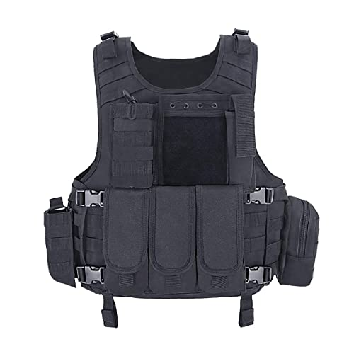 MGFLASHFORCE Tactical CS Field Vest, Airsoft Paintball Vest