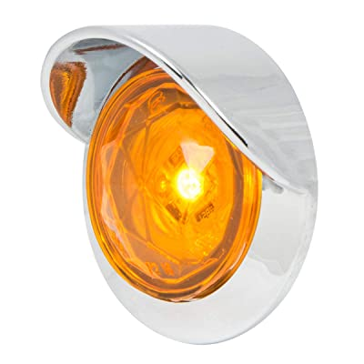 """GG Grand General 75330 Amber/Amber Light (1-1/4"""" Amb Diamond 1LED Dual Fn. with Clear Visor Bz): Automotive"""