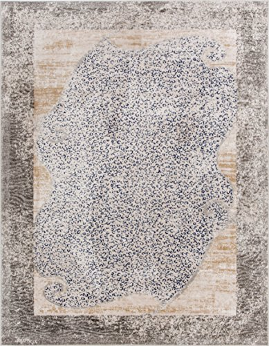 Well Woven Serenade Merola Blue & Beige Animal Print Area Rug 4 x 6 (3